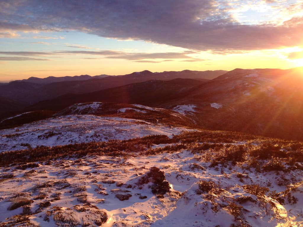 Sunset of the White Mtns.