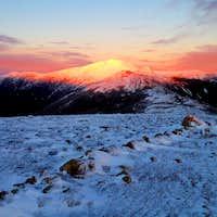 Alpenglow on Mt. Washington at sunset