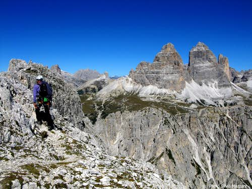 Lavaredo seen from summit of Torre Wundt