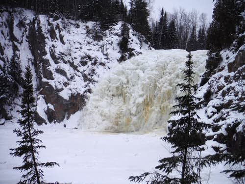 High Falls of Baptism River in Winter
