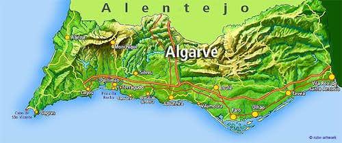 Foia Map: Algarve Region