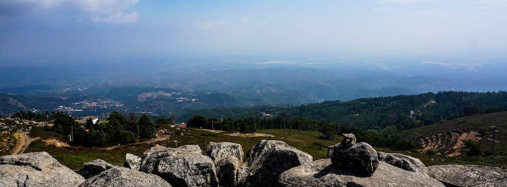 Summit view towards the Atlantic Ocean
