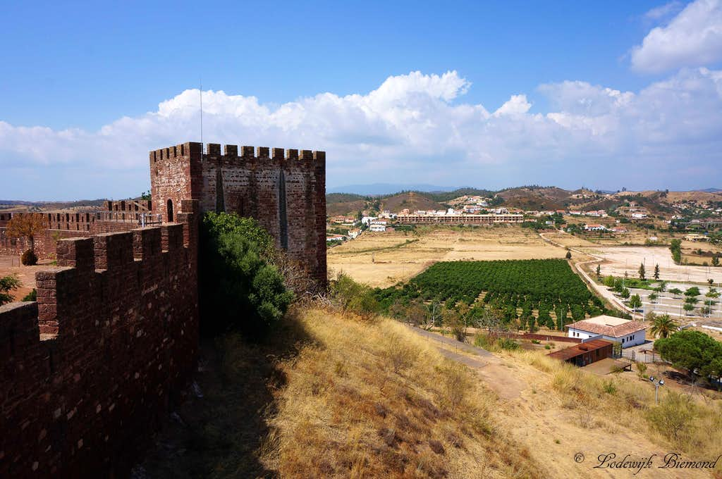 Silves Castle with Foia behind