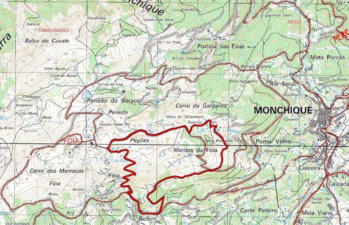 Foia Trail map