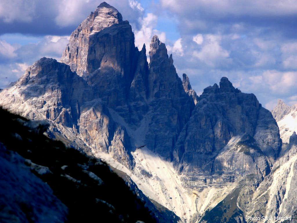 Central Marmarole seen from Torre Pian dei Buoi
