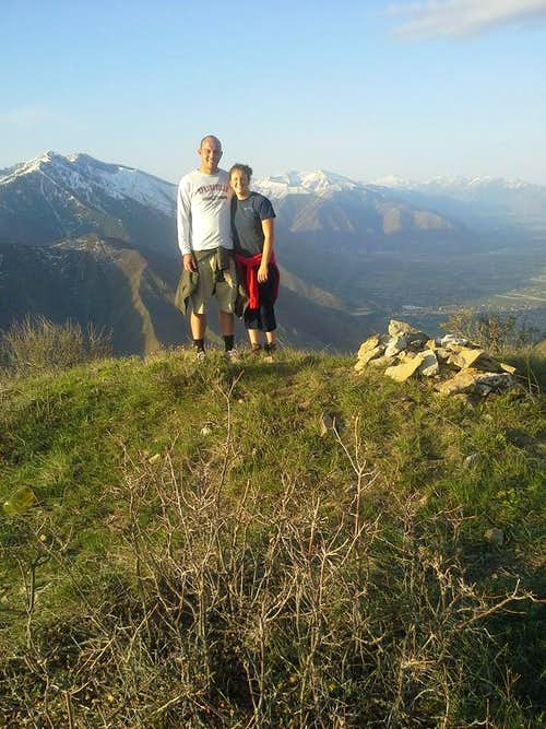 my nephew and his wife atop Powerhouse - 4/24/15