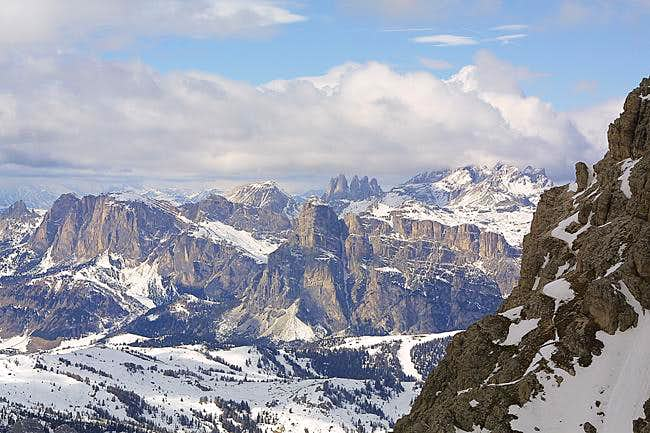 Val Badia mountains in...