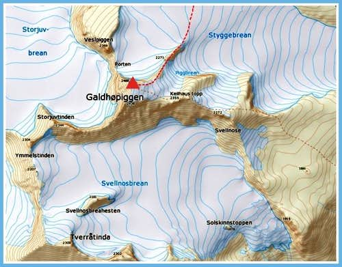 Galdhøpiggen map