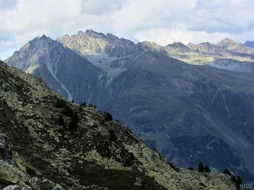 Plamorderspitze (2982m) seen from the slopes of the Elferspitz