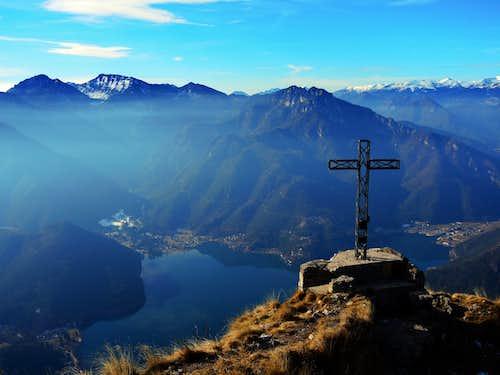 Cima d'Oro foresummit and Lago di Ledro