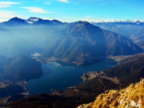 Lago di Ledro seen from Cima d'Oro foresummit
