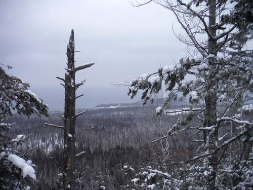 Lake Superior on a Snowy Day - Superior Hiking Trail