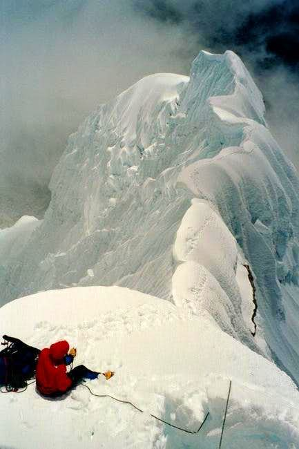 August 2002 ascent of the NW...