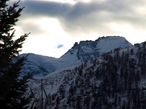 Roc & Gran Paradiso above Tribolazione Glacier 2016