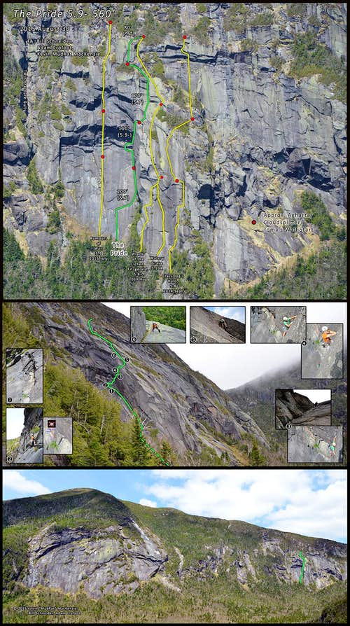 Panther Gorge-The Pride-A Premium Marcy Rock Climbing Route 2015 August 30
