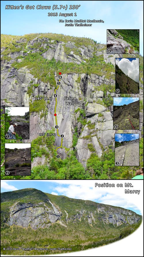 Panther Gorge-A New Marcy Rock Climbing Route (Kitten's Got Claws)