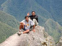 With KBalls atop Huayna...