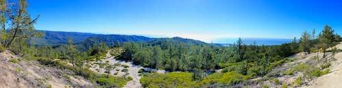 Chalk Mountain Big BasinPanorama