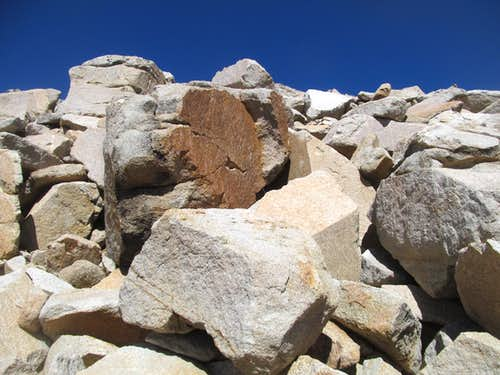 talus blocks near the summit