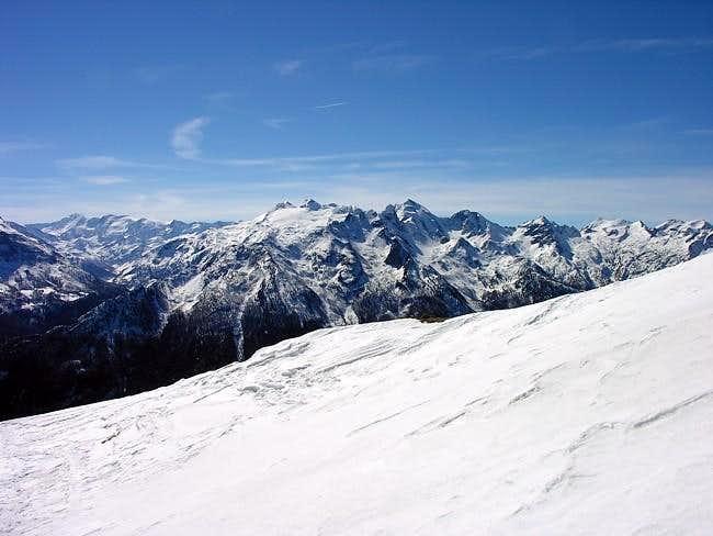 Il monte Paramont (3301 m.)...