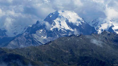 Ortler and Monte Zebru from Arundakopf