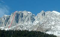 South arete - Spigolo Sud (Via Longo)