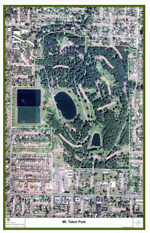 Mt Tabor Park Map Map and entrances to Mt. Tabor Park : Photos, Diagrams & Topos