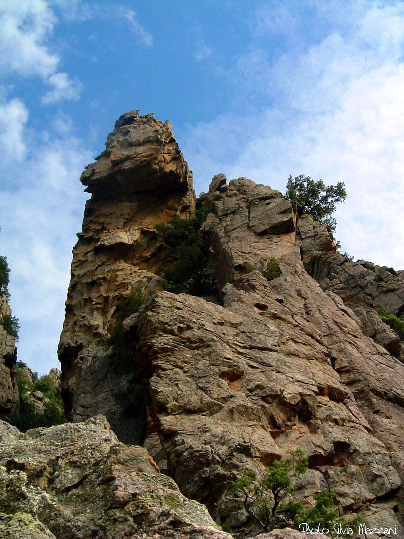 The spire of Rossolino, Gorge of Tavignano