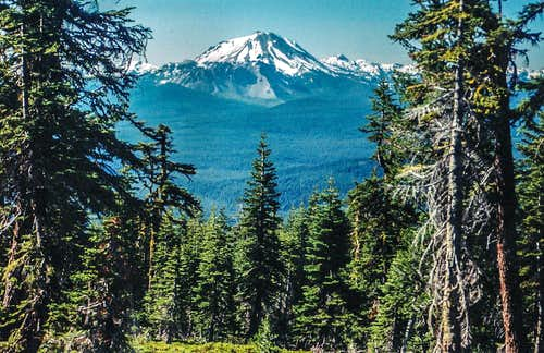 Lassen Peak from Thousand Lakes Wilderness