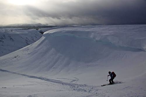 Ski Descent of Baldy Cinco