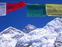 Flags below Everest - Steve...