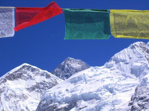 Flags below Everest - Steve...