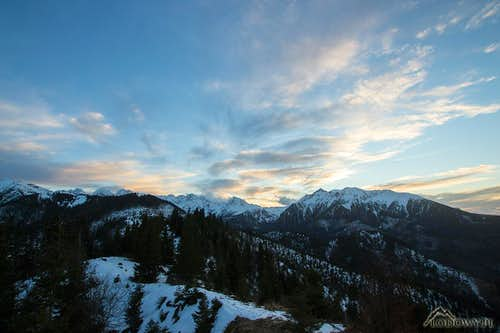 Today's windy evening on Mt.Skalka