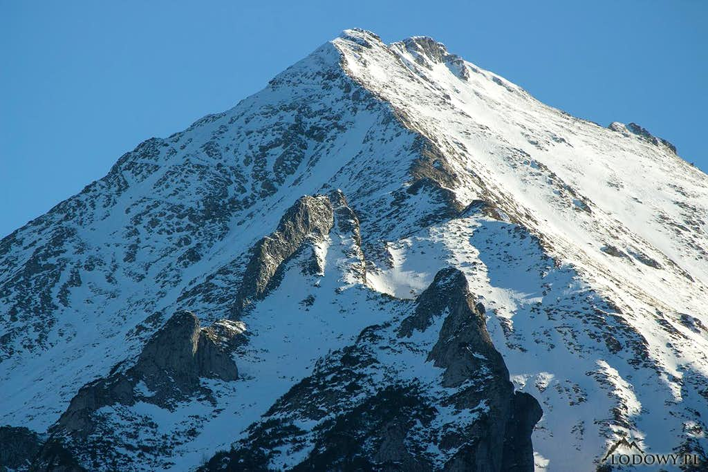 Mount Havran over Podspady