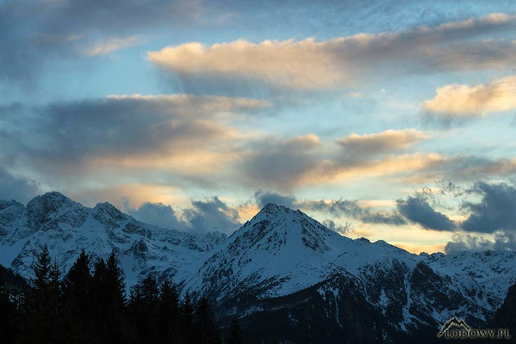 Windy evening over Tatras