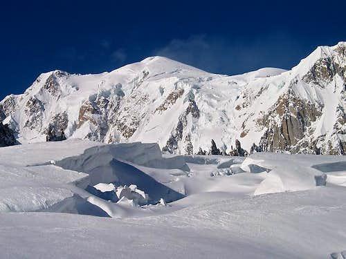 Mont Blanc from Glacier du Géant