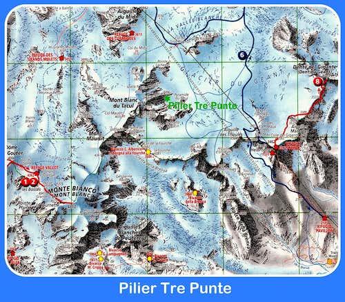 Pilier Tre Punte map