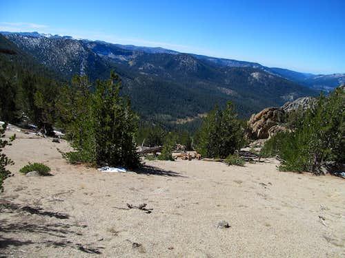 sandy terrain to descend