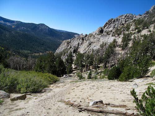 descending the trail