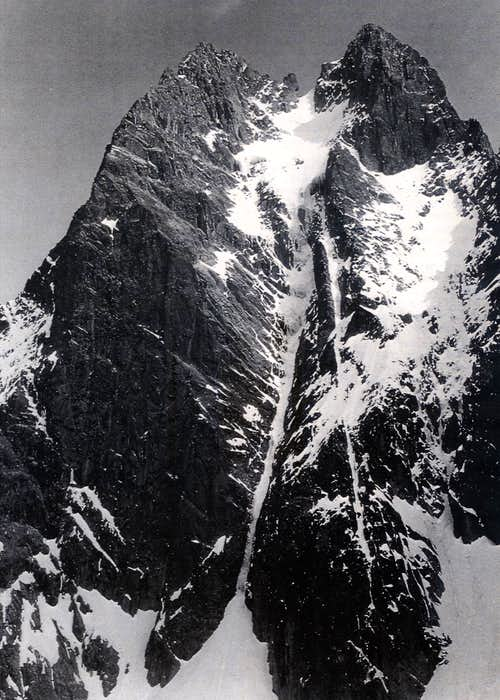 The Diamond Couloir in early Eighties b/w