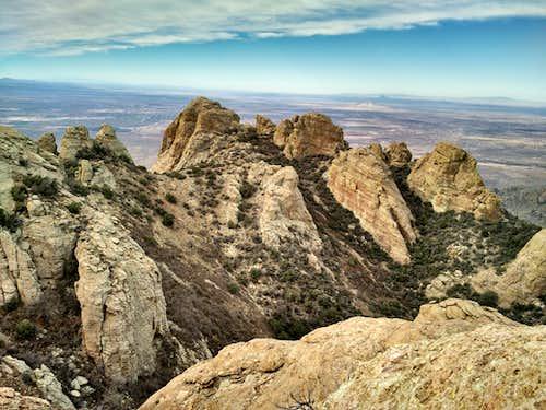 Looking toward Deming from Peak 7205
