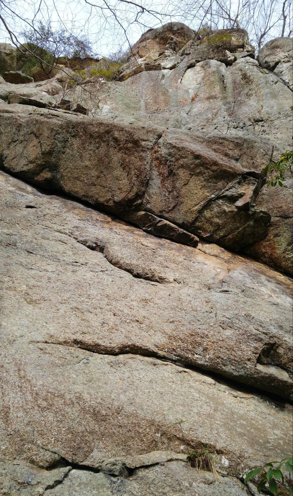 Love Gap Crags-- Undercling Slab (5.7)