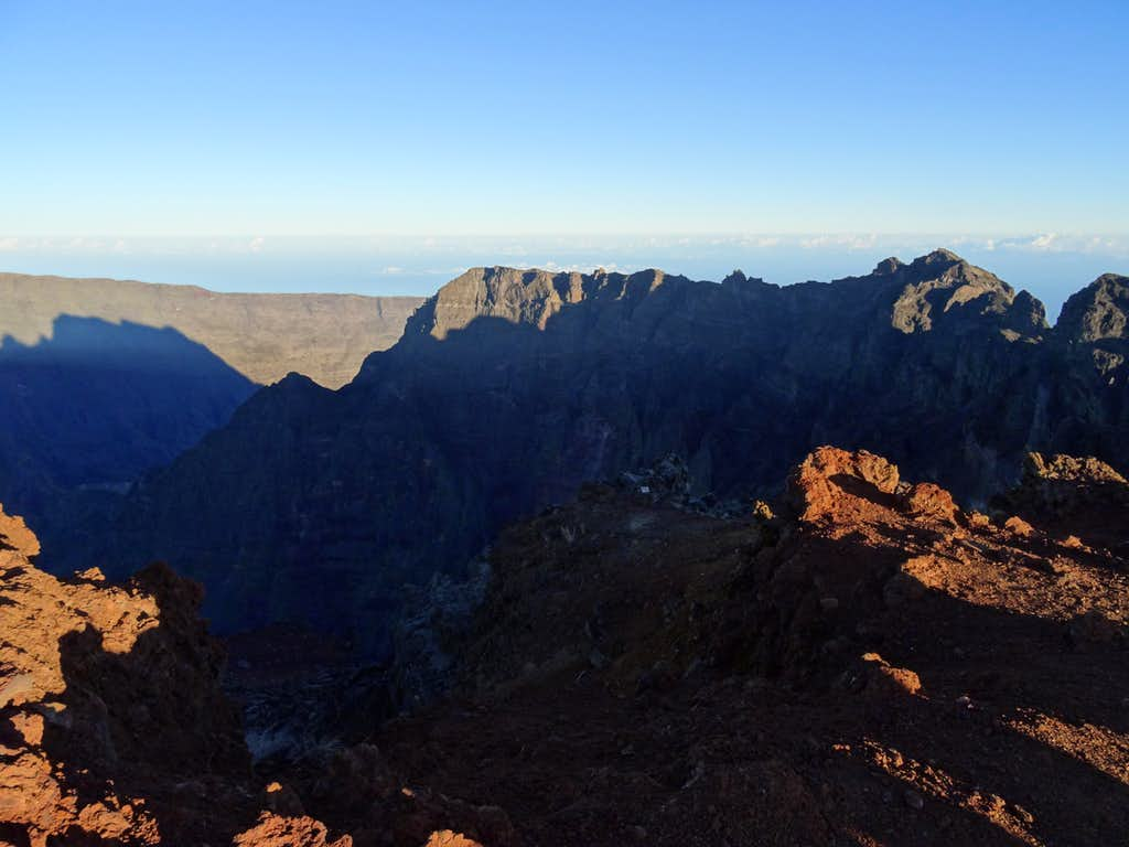 View from summit of Piton des neiges