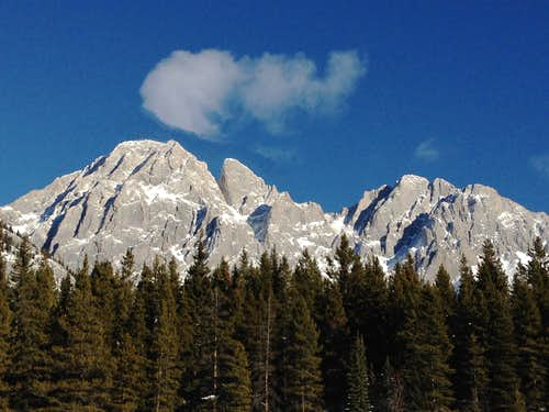 Mt. Blane, The Blade and Mt. Barham