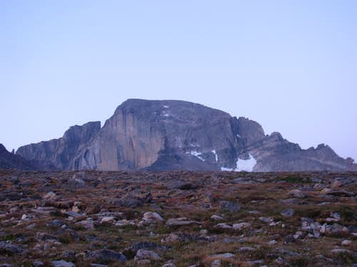 East Face of Longs Peak at First Light