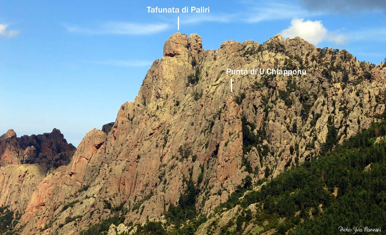 Tafunata di Paliri and Punta di U Chiapponu annotated view