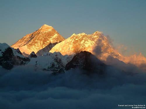Everest, Nuptse, and Lhotse...