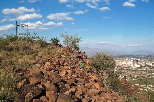 Near the summit of Tumamoc Hill...