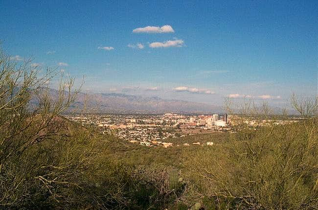 View from Tumamoc hill going...