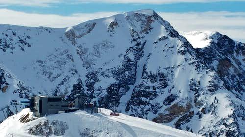 West Twin Rising Above Hidden Peak